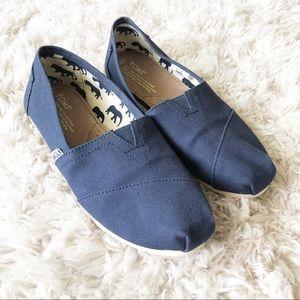 TOMS | Navy Canvas Classic Alpargata Slip On Shoes